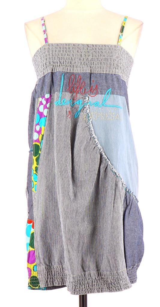 Vetements Robe DESIGUAL BLEU CLAIR