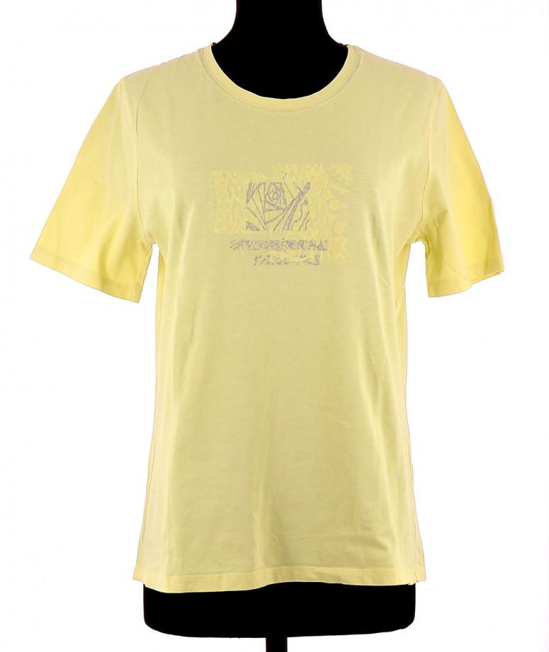 Vetements Tee-Shirt CHRISTINE LAURE JAUNE