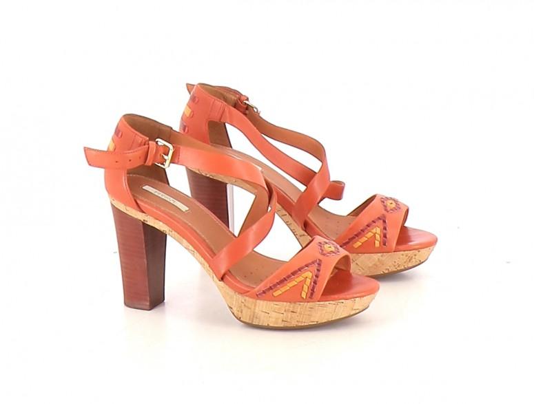Chaussures Sandales GEOX ORANGE
