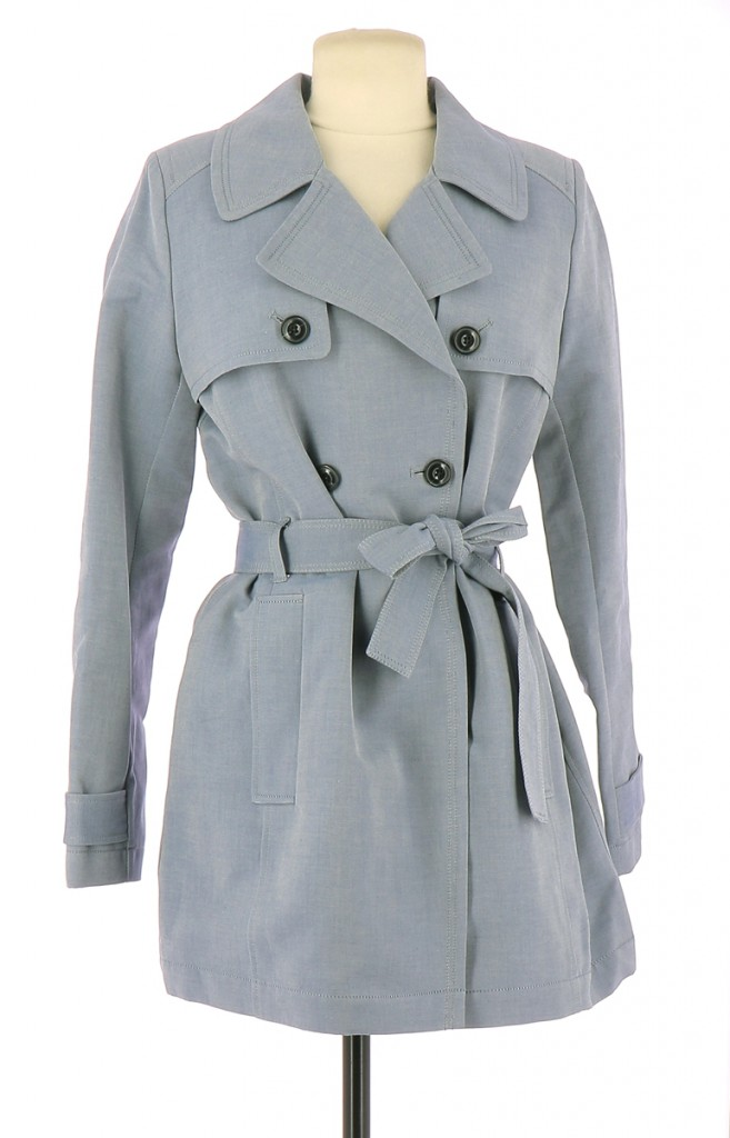 Vetements Trench IKKS BLEU CLAIR
