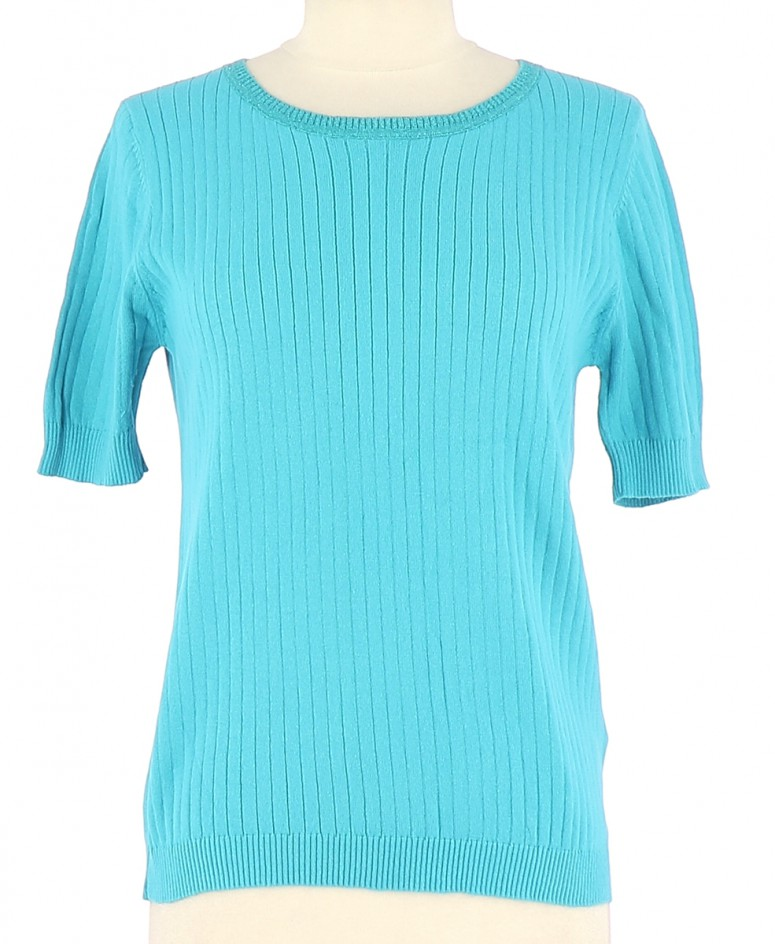 Vetements Pull SUD EXPRESS TURQUOISE