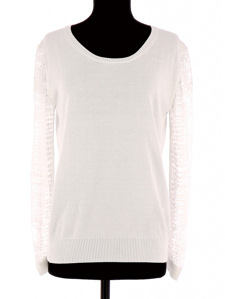 Vetements Pull CLAUDIE PIERLOT BLANC