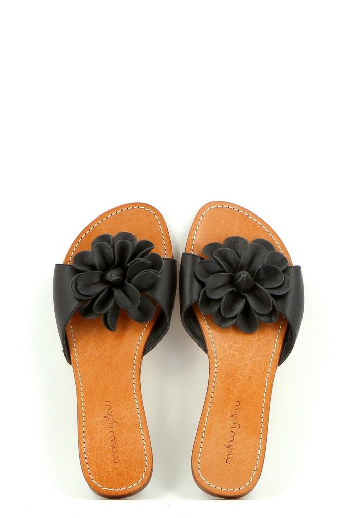 Chaussures Mules MELLOW YELLOW NOIR
