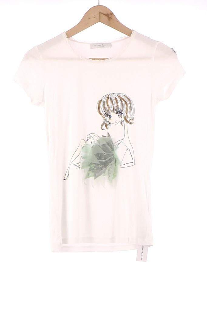 Vetements Tee-Shirt GUESS BLANC