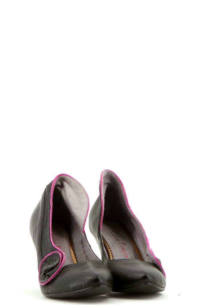 Chaussures Escarpins COULEUR POURPRE NOIR