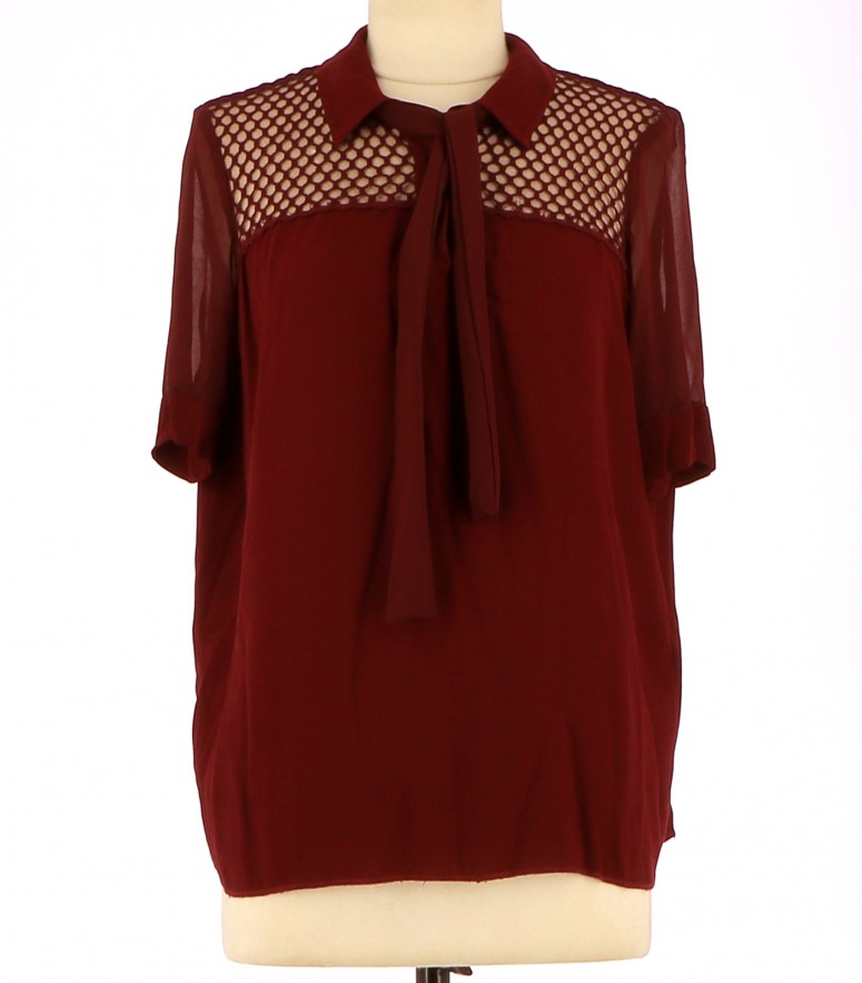 Vetements Blouse SANDRO BORDEAUX