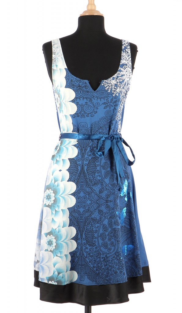Vetements Robe DESIGUAL BLEU MARINE