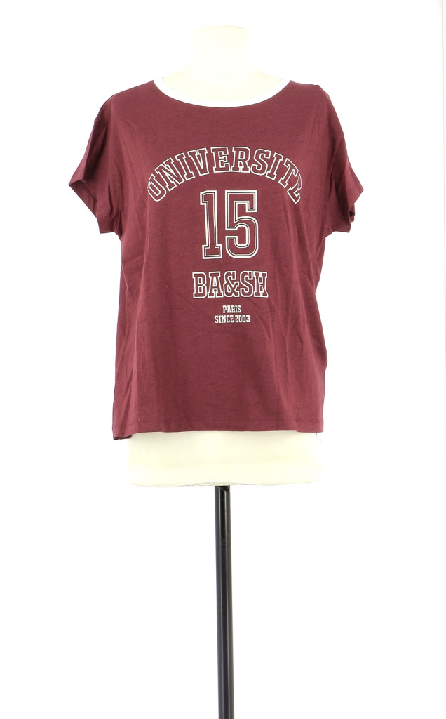 Vetements Tee-Shirt BA&SH BORDEAUX