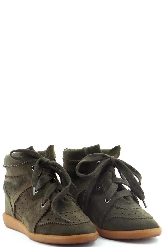 Chaussures Bottines / Low Boots ISABEL MARANT KAKI