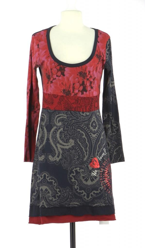 Vetements Robe DESIGUAL BLEU MARINE