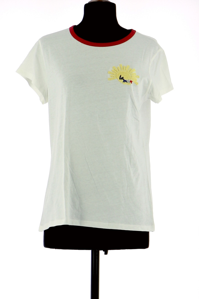 Vetements Tee-Shirt LA PETITE FRANCAISE BLANC