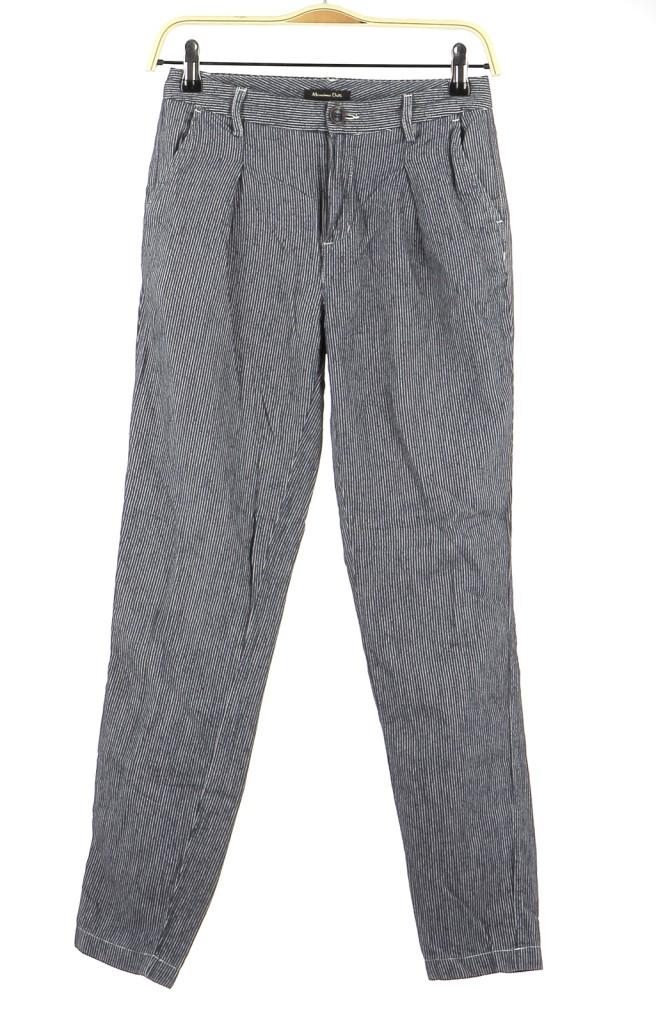 Vetements Pantalon MASSIMO DUTTI BLEU MARINE
