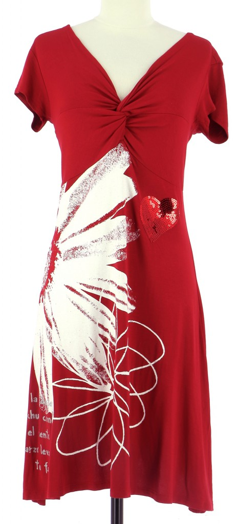 Vetements Robe DESIGUAL ROUGE