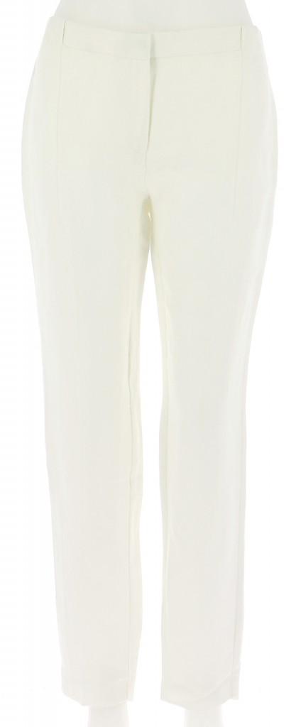 Vetements Pantalon MANGO BLANC
