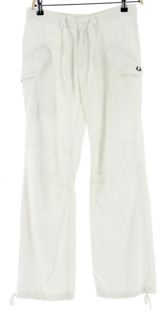 Vetements Pantalon FRED PERRY BLANC
