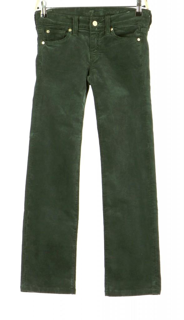 Vetements Pantalon 7 FOR ALL MANKIND VERT FONCé