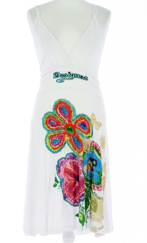 Vetements Robe DESIGUAL BLANC