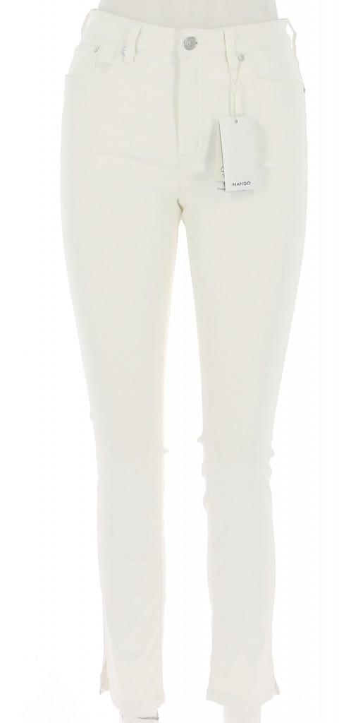 Vetements Pantalon MANGO ÉCRU