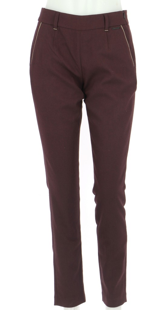 Vetements Pantalon ONE STEP BORDEAUX