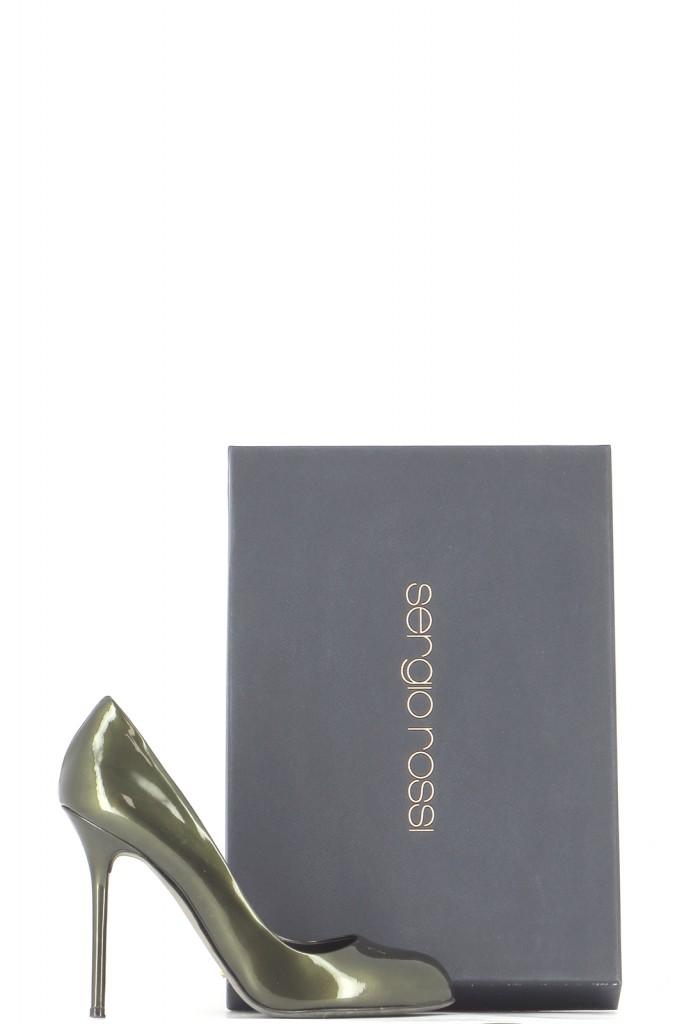 Chaussures Escarpins SERGIO ROSSI  KAKI