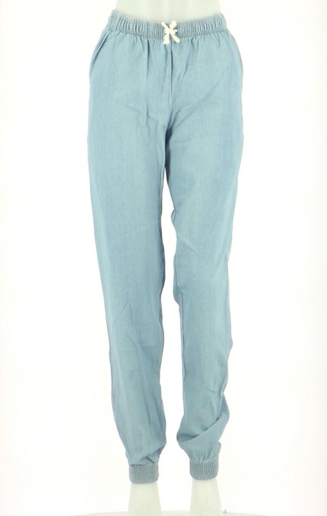 Vetements Pantalon AMERICAN APPAREL BLEU CLAIR