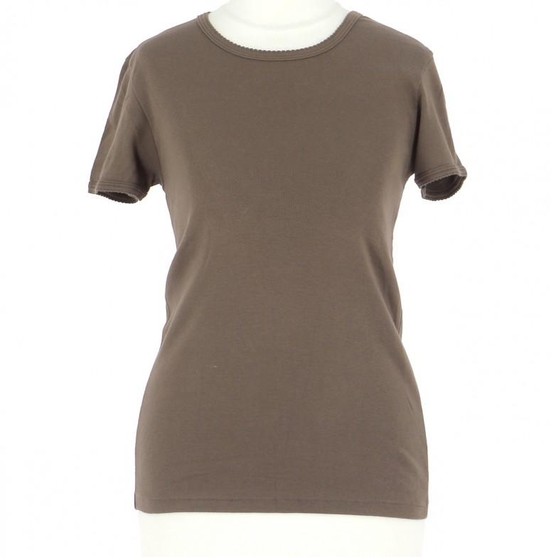 Vetements Tee-Shirt PETIT BATEAU CHOCOLAT