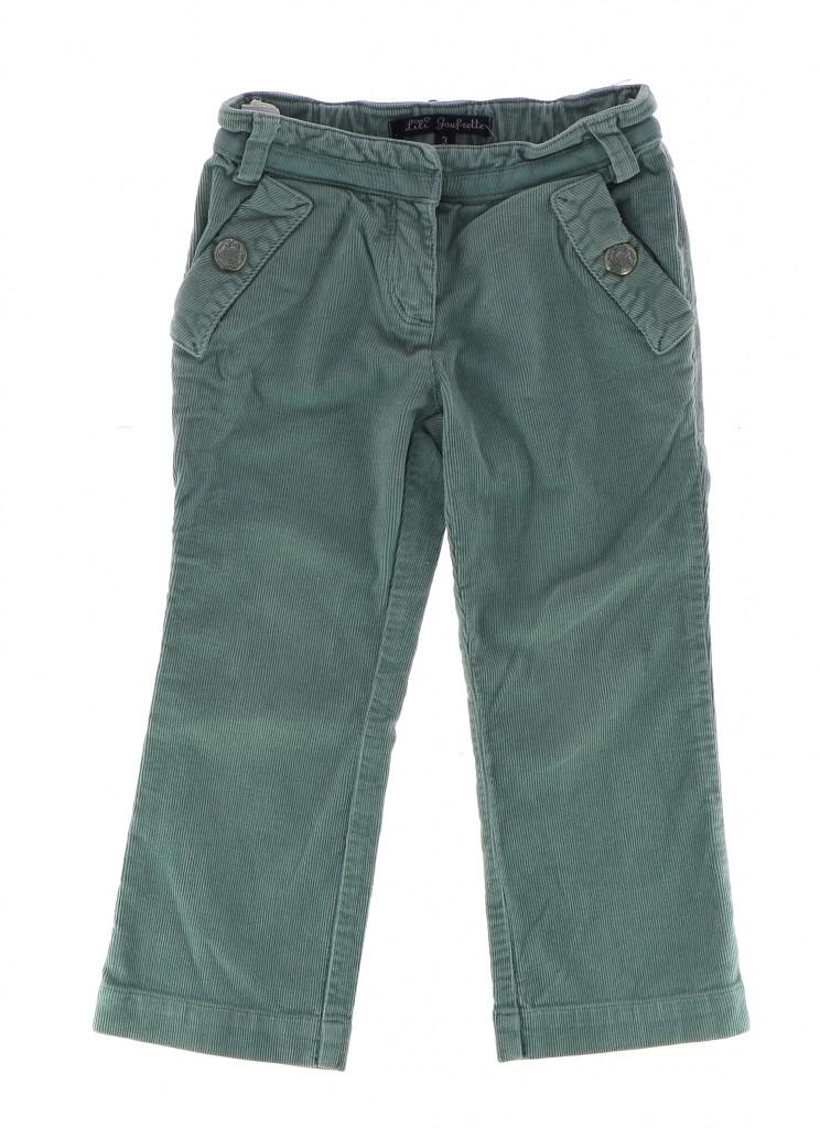 Vetements Pantalon LILI GAUFRETTE TURQUOISE